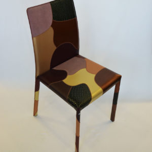 chaise cuir et tissu