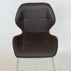 Chaise en PVC marron
